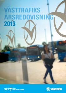 Västtrafiks årsredovisning 2013